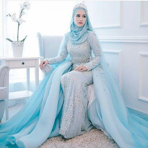 Model Gaun Pengantin Muslim yang Mewah dan Modern