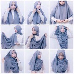 20+ Cara Memakai Hijab Pashmina Simple yang Kekinian