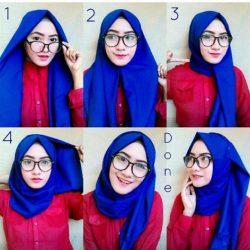 20++ Tutorial Cara Memakai Hijab Pashmina Simple